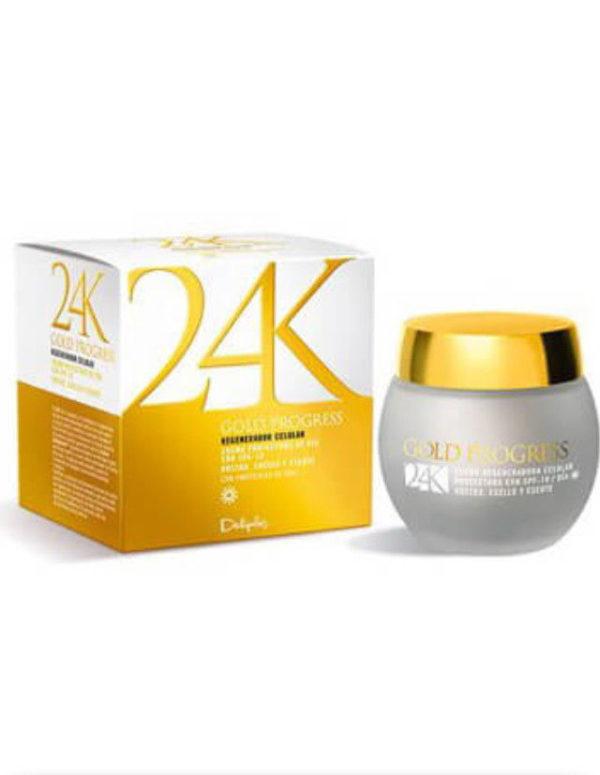 Deliplus 24k Gold Progress, anti-aging day face cream, 50 ml