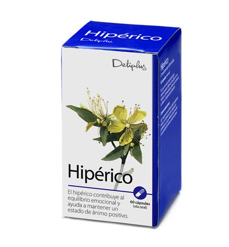 DELIPLUS HIPERICO Hypericum based food supplement, 60 CAPSULES