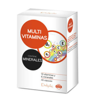 DELIPLUS MULTIVITAMINAS Vitamin and mineral based nutritional supplement, 40 CAPSULES