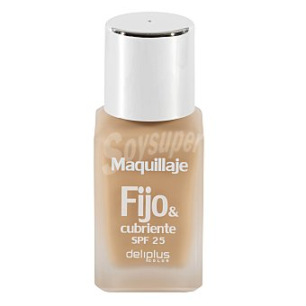 DELIPLUS Maquillaje fluido fijo&cubriente N 2 beige claro , Makeup fluid light beige