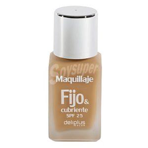 DELIPLUS Maquillaje fluido fijo&cubriente N 4 beige - rosado , Makeup fluid beige pink