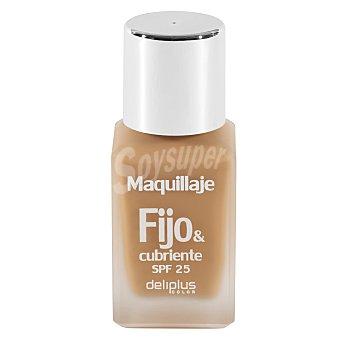 DELIPLUS Maquillaje fluido fijo&cubriente , Makeup fluid Nº06 Beige Medio