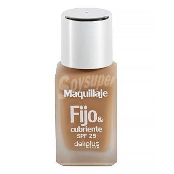 DELIPLUS Maquillaje fluido fijo&cubriente Nº08 Dorado , Makeup fluid Nº08 gold