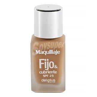 DELIPLUS Maquillaje fluido fijo&cubriente , Makeup fluid Nº10 moka