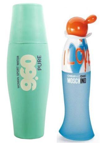Perfume for women 9.60 Sport Water Pure analog Moschino Cheap & Chic I Love Love, 200 ml