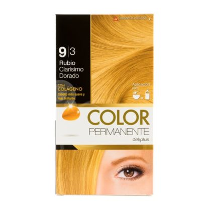 DELIPLUS Color Permanente Nº 9.3 Rubio extra claro dorado,Extra light golden blonde
