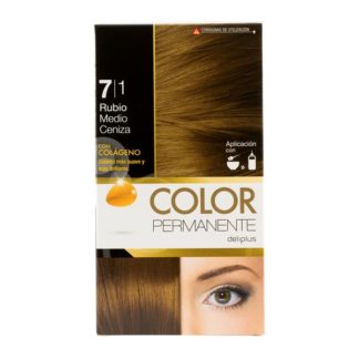 DELIPLUS Color Permanente Nº 7.1 rubio media ceniza, Medium blonde