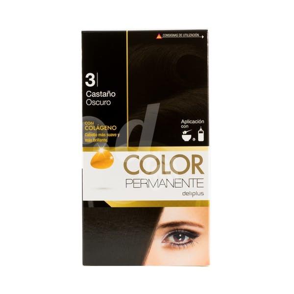 DELIPLUS Color Permanente N 3 Castaño oscuro, Dark chestnut