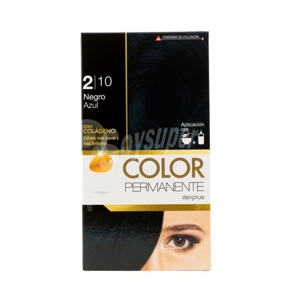 DELIPLUS Color Permanente N 2.10 Negro azul, Black blue