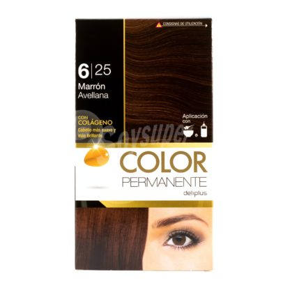 DELIPLUS Color Permanente Nº 6.25 Avellana, Hazelnut