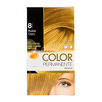 DELIPLUS Color Permanente Nº 08 rubio claro, light blonde