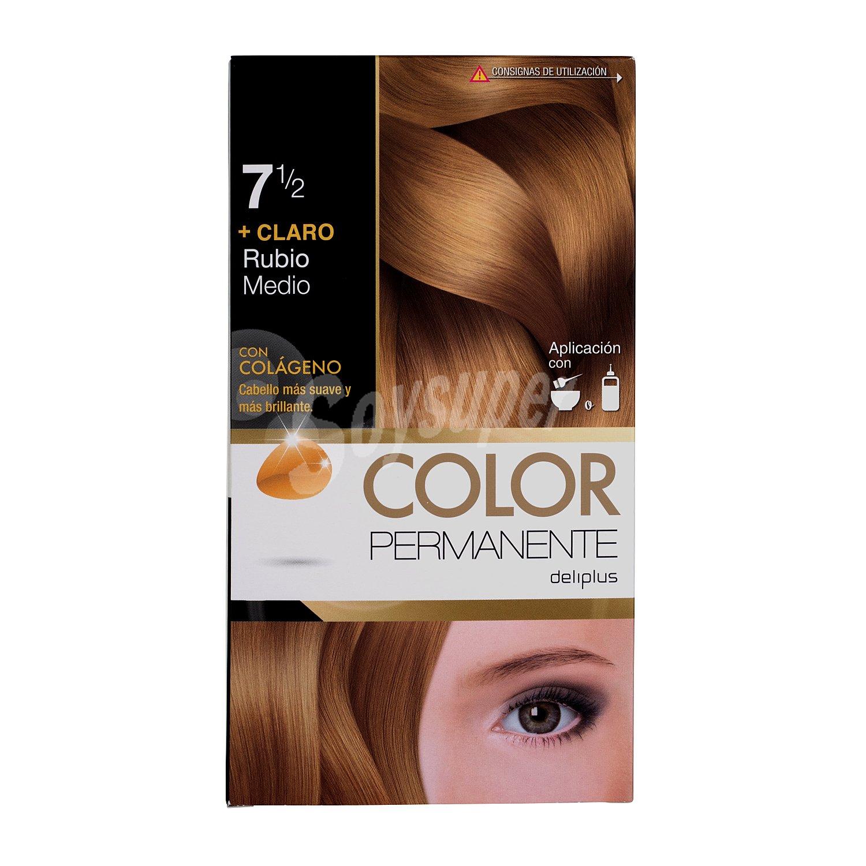 DELIPLUS Color Permanente Nº7 Rubio medio, Medium blonde