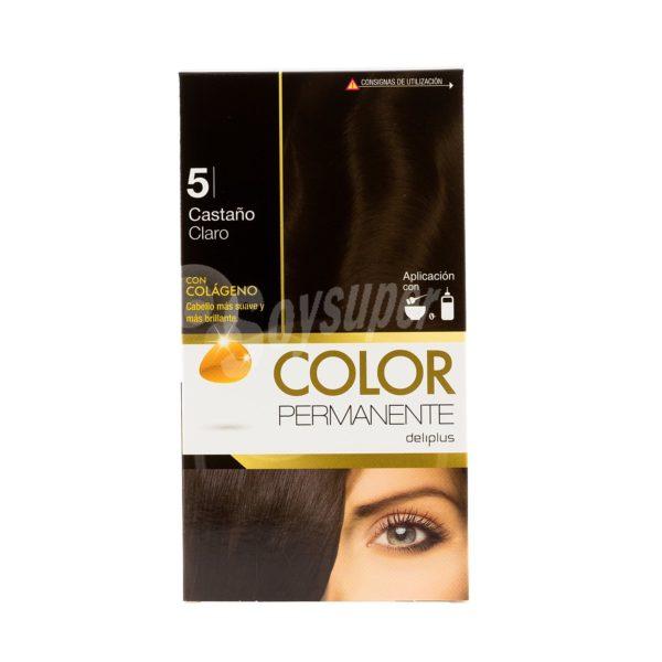 DELIPLUS Color Permanente Nº 5 Castaño claro, Light brown