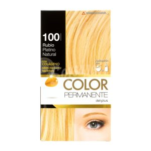DELIPLUS Color Permanente Nº 100 Rubio platino, Platinum Blonde