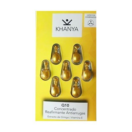 Khanya Perlas faciales Q10 concentrado reafirmante antiarrugas, Facial Pearls Q10 Anti-Wrinkle Firming Concentrate