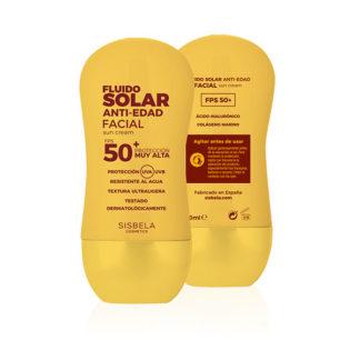 DELIPLUS Protector Solar Facial Fluido SPF 50 ,Sunscreen Anti-aging facial fluid, 50ml