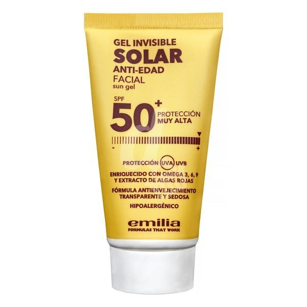 See see Fluido solar facial SPF 50+ antiedad (gel invisible), Facial sunscreen SPF 50+ anti-aging, 50ml